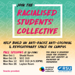 Racialised Students' Collective Meetings @ Student Centre
